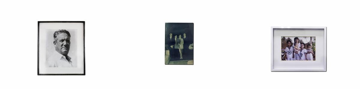 Alberto Varnero selected three photographs representing three generations of his family. 1. Alberto's father; 2. Alberto's childrens with their wives; 3. Alberto's grandchildren.