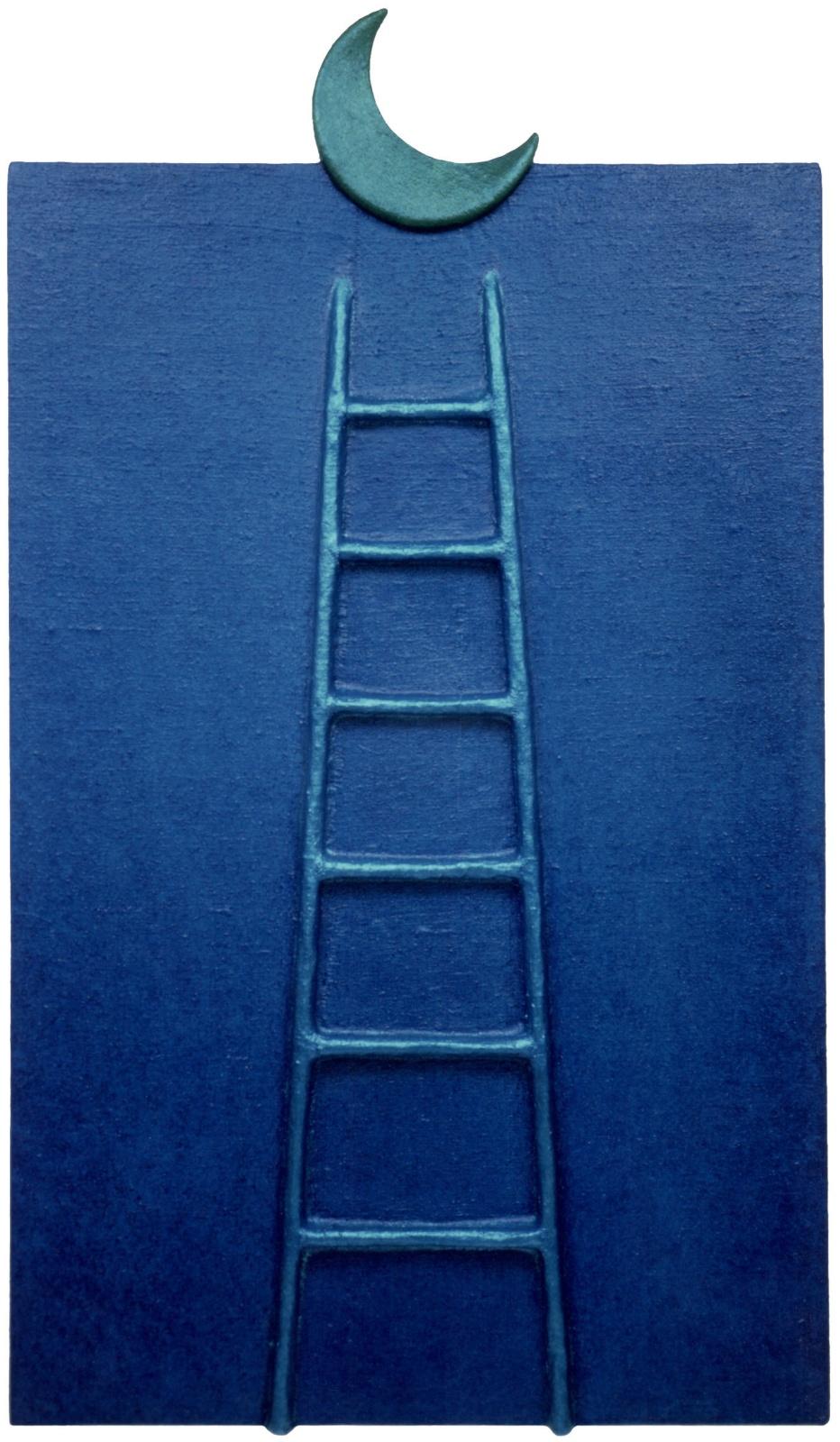 VOGLIOLALUNA .  - Bassorilievo, tela dipinta su sagome in legno, cm.230 x 130 Collezione Barbara Barattolo, Bari