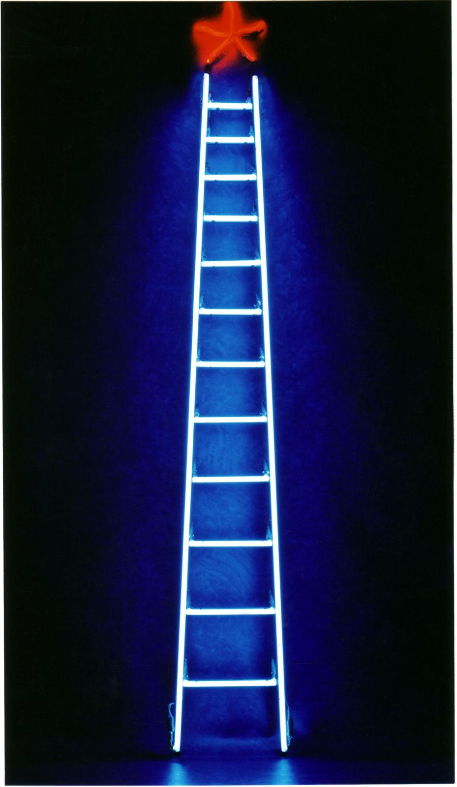 SCALINATELLA . 1999 - Tubi al neon su struttura in ferro, cm.230 x 30 Collezione Maristella Buonsante, Bari