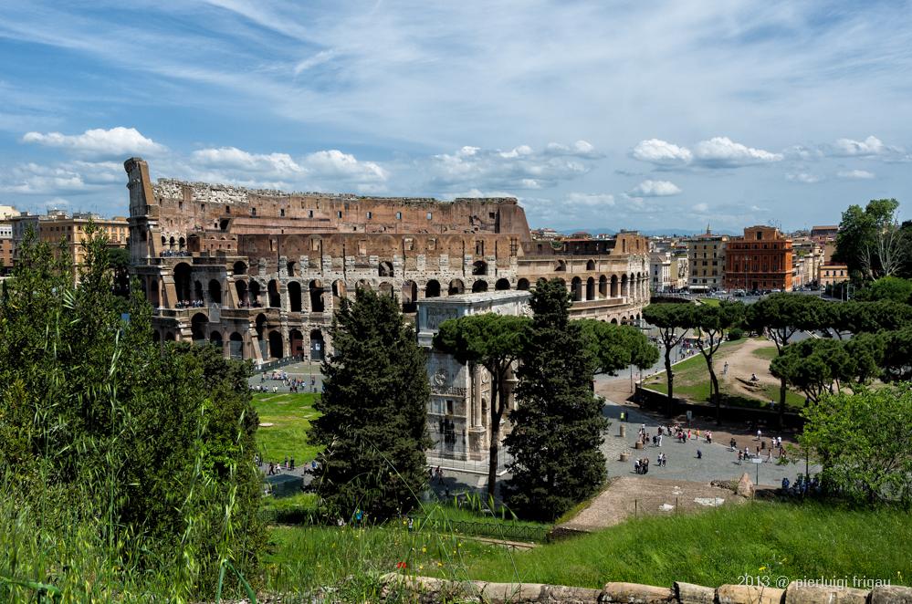 Il Colosseo visto dal Palatino