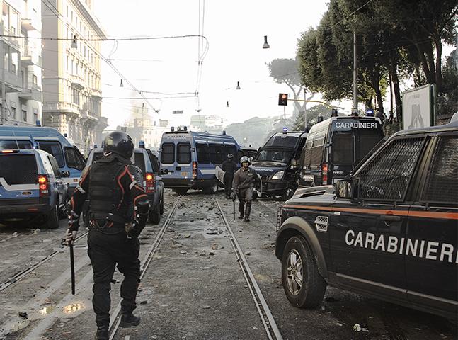ROMA - PIAZZA SAN GIOVANNI 15/10/2011