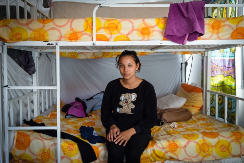 Haisha from Afghanistan, student 15 years old. Sombor, Serbia 2017. She left Afghanistan when she was 13 years old, and after a long journey she arrived in Serbia. She has started a minor protection procedure and is awaiting for a response. She wants to reach her relatives in Austria, and to continue her studies.